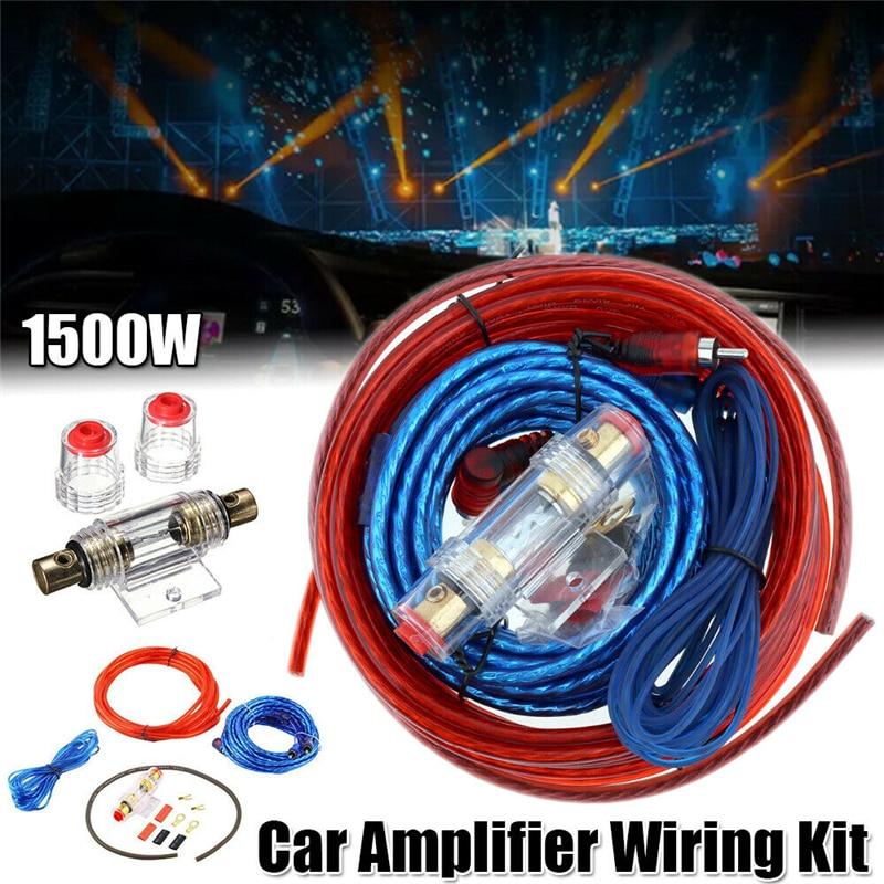 Soporte de fusible de 60 AMP, Cable de alimentación 8GA, Subwoofer, altavoz,...