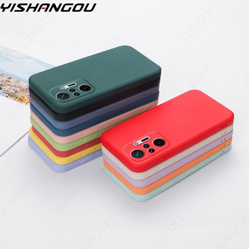 Чехол для Xiaomi POCO M3 Pro 5G F3 X3 Pro NFC X3 GT M2 Mi 11 Ultra 10T 9T 10 11 Lite Мягкий Жидкий Силиконовый противоударный чехол