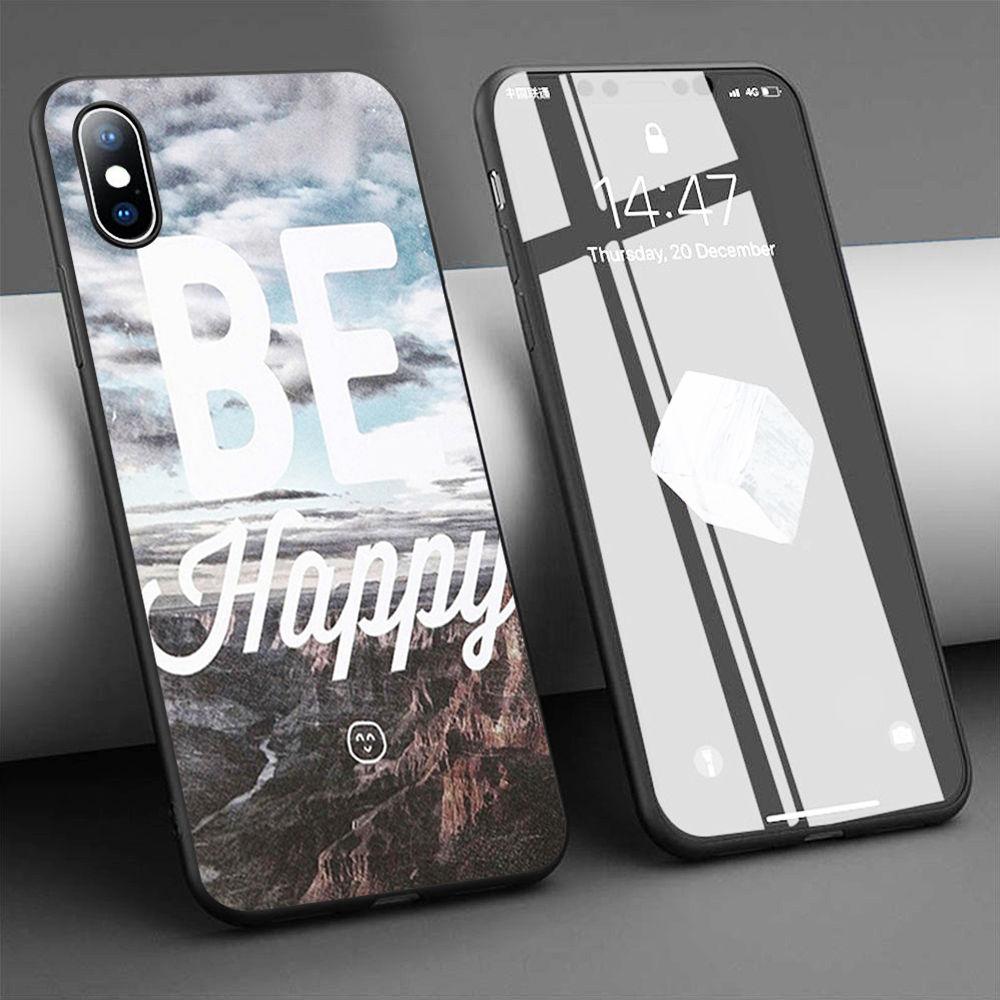 Coque propriedade ser feliz macio silicone caso de telefone para o iphone 11 pro max x 5S 6s xr xs max 7 8 plus caso capa de telefone
