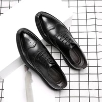 men brogue shoes genuine leather formal shoes for men italian shoe handmade wedding dress business oxford male formal shoes