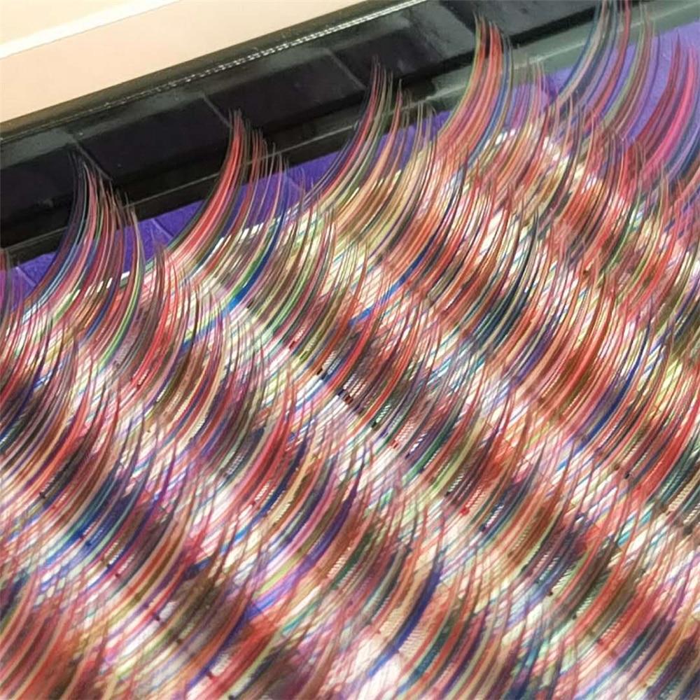 eylashes Candy 6 Colors Rainbow Colored Eyelash Extension Faux Mink Individual Colorful Eyelashes maquiagem Cilios Premium Cilia