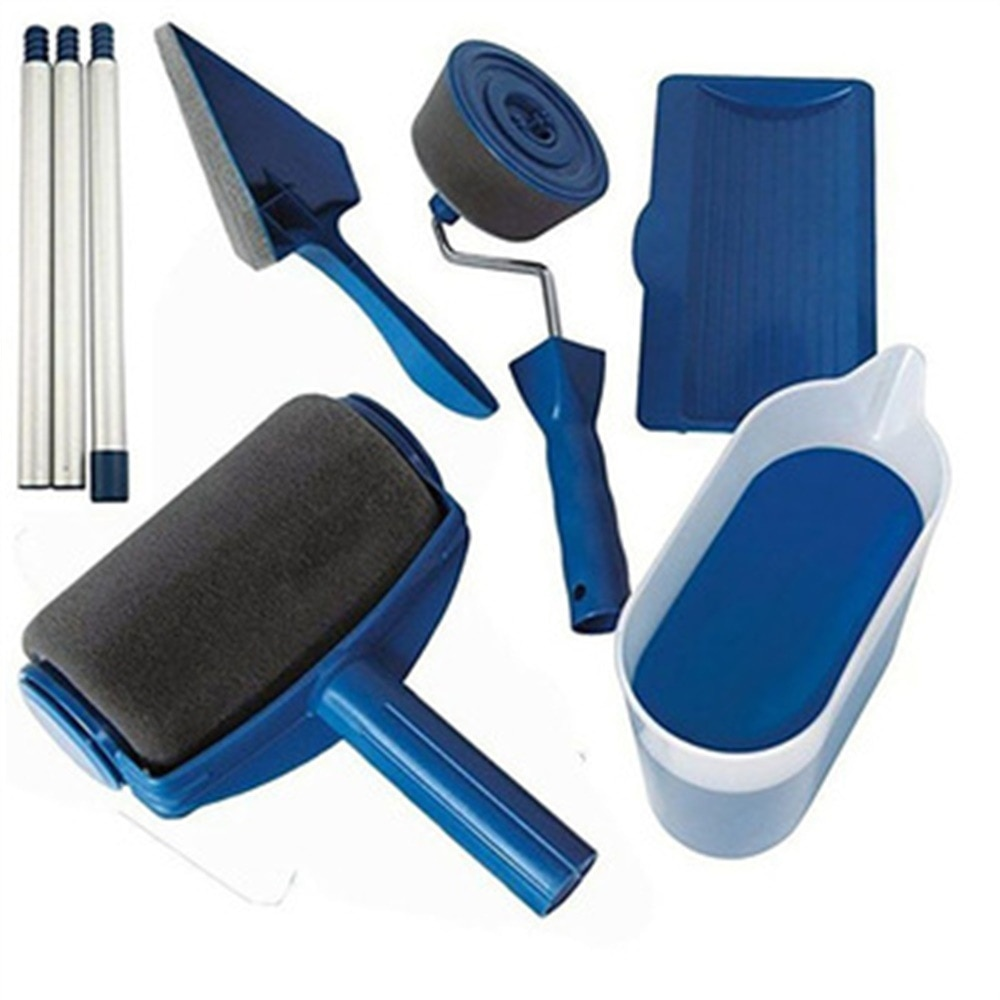 8Pcs Multifunction Paint Runner Roller Kit Pro Corner Brush Household Office Wall Decorate DIY Handle Painting Set Tools Rollers