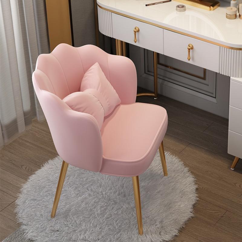 المكياج البراز مضمد البراز كرسي فتاة جميلة غرفة نوم الحديثة بسيطة الأميرة فتاة