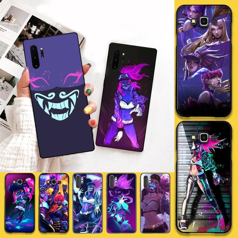 HPCHCJHM lol kda kaisa Ahri akali Evelynn DIY malowane etui na telefony do Samsung Galaxy J7 J8 J6 Plus 2018 Prime Note 7 8 9 10 pro