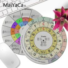 MaiYaCa مخصص الجلد دائرة من fifths piano1 جميلة أنيمي الماوس حصيرة 20x20 سنتيمتر 22x22 سنتيمتر القطر جولة لوحة الماوس