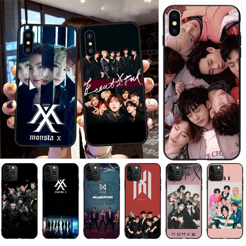 NBDRUICAI KPOP MONSTA чехол для iPhone 11 pro XS MAX 8 7 6 6S Plus X 5S SE XR чехол