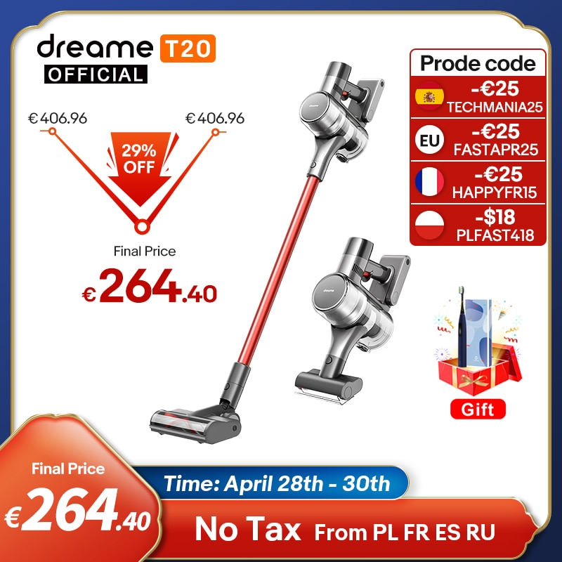 AliExpress - Dreame T20 Handheld Cordless Vacuum Cleaner Intelligent All-surface Brush 25kPa All In One Dust Collector Floor Carpet Aspirator