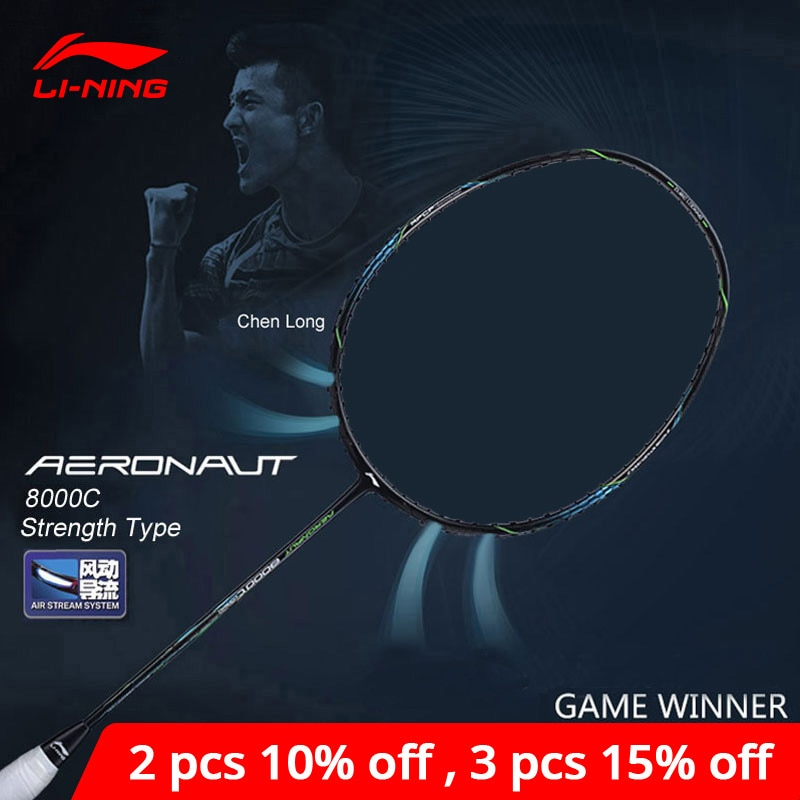 Li-ning AERONAUT 8000C raqueta de bádminton tipo de fuerza profesional de alta tensión Li Ning LiNing Single raqueta AYPN216 ZYF329