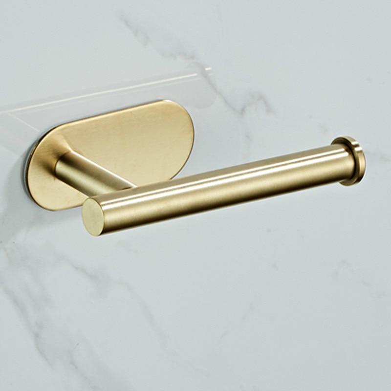 Free Drill Tissue Holder 304 Stainless Steel Toilet Paper Holder Bathroom Hardware Accessories Toilet Roll Holder 4700