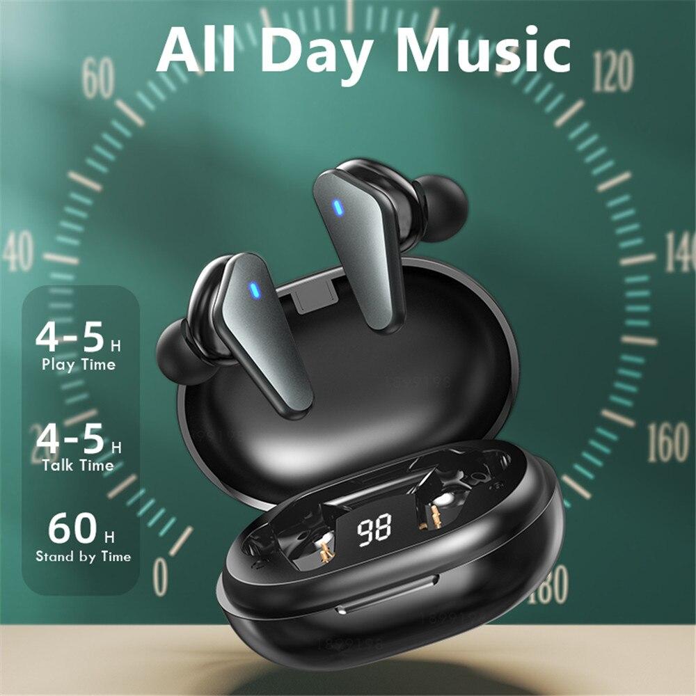 TWS Wireless Bluetooth Earphone Waterproof Sports Headphone 9D Hifi Stereo Mini Earbuds Noise Canceling Headsets With Microphone