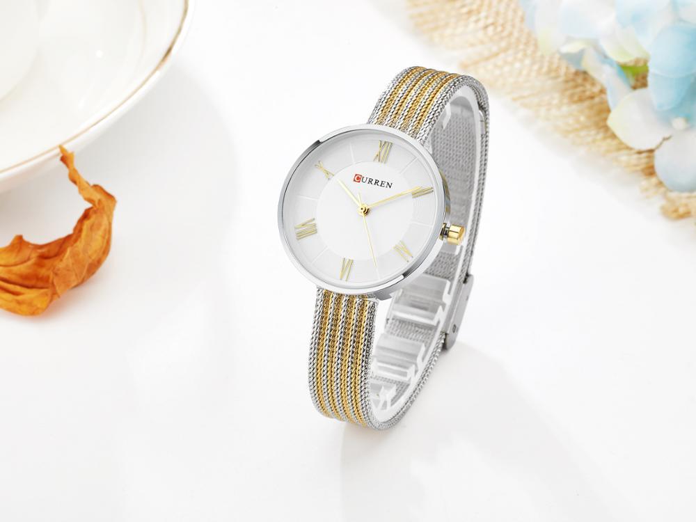 CURREN Fashion Ladies Watches Top Brand Women Wristwatches Chic Stainless Steel Stylish Female Clock Waterproof Zegarek Damski enlarge