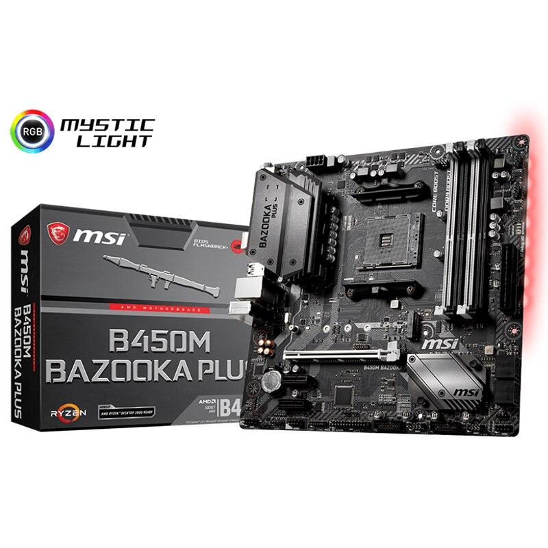 Nuevo para MSI B450M BAZOOKA, zócalo de la placa base AM4 DDR4 para AMD B450 m2 PCI-E 3,0 Original, placa base usada para escritorio