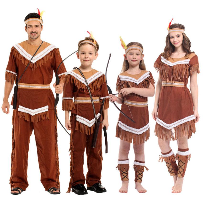 Umorden Halloween Women Indian Princess Costumes Kids Girls Pocahontas Huntress Costume Purim Party Mardi Gras Fancy Dress