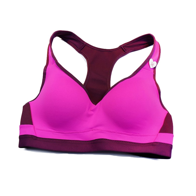 Crop Top Sports Bra Women Fitness Gym Seamless Rims Bra Sports Shockproof Brassiere Yoga Padded Running Jogger Sport Bra Push Up