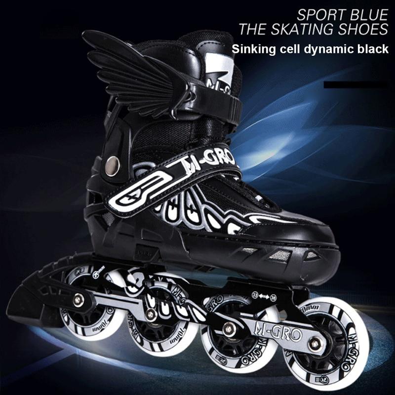 Профессиональные технические роликовые коньки для взрослых, скользящие роликовые коньки без патин, кожаные роликовые коньки для взрослых