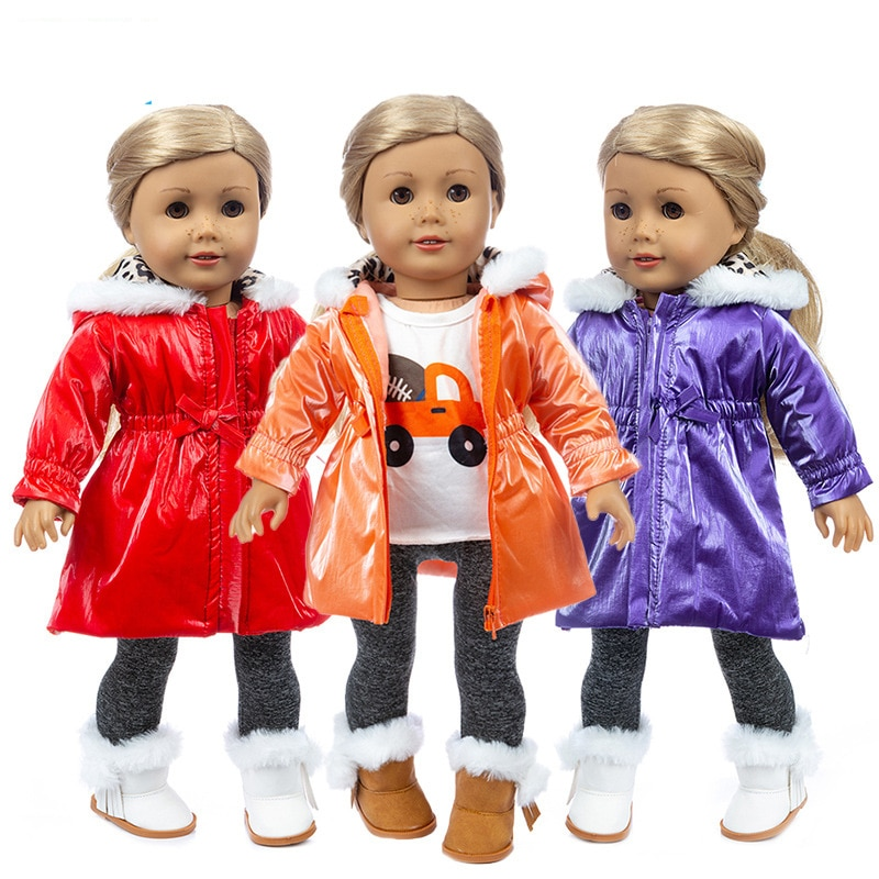 clothes for baby born dolls winter fur cloak coat windbreaker clothes for 18 inch doll outwear sets girl christmas dress 18 Inch American Generation Girl Doll Clothes Winter Ski Jacket Baby New Born Doll Clothes Coat Trousers