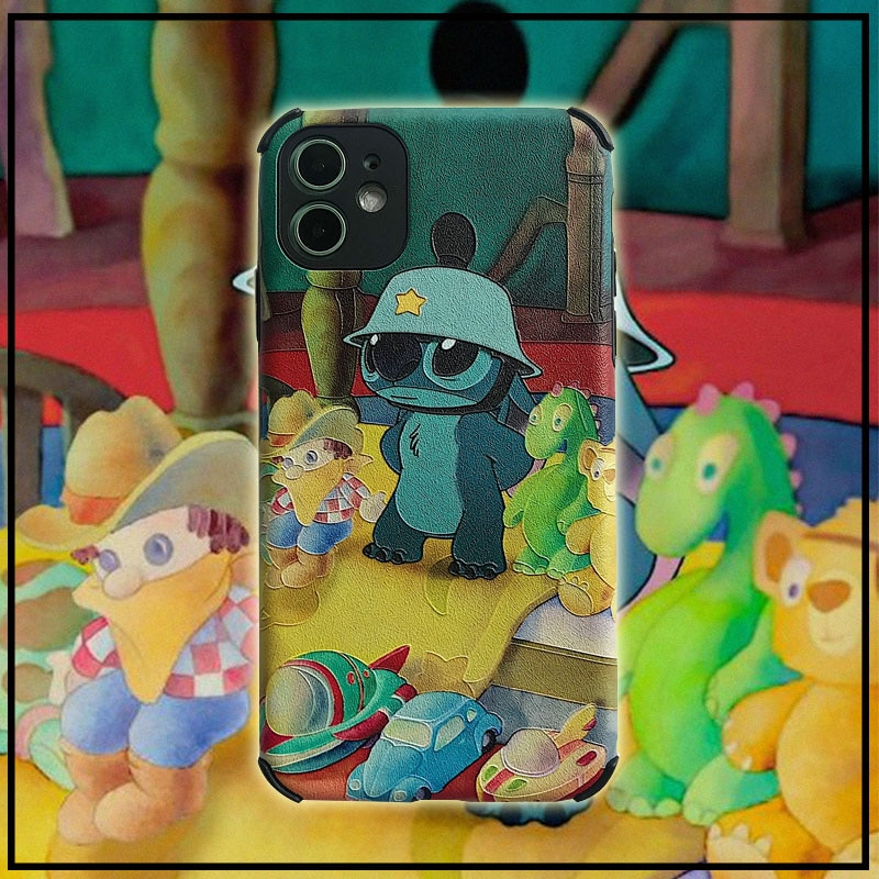 Funda de teléfono suave de puntada estilo pintura al óleo anticaída para iPhone 11 Pro Max X XR XS Max 7 8 Plus para huawei P30 P20 Pro Mate30 pro