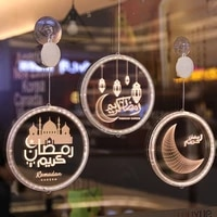 led string light christmas garland decoration eid mubarak moon star curtain string light decorative holiday light lamp fairy