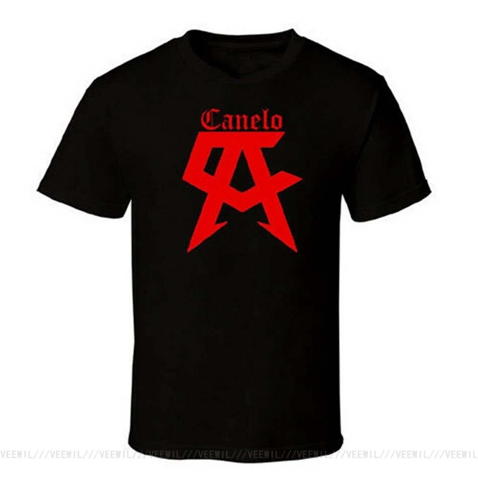Camisetas de campeón de boxeo SAUL Alves CANELO para hombre, camiseta negra,...