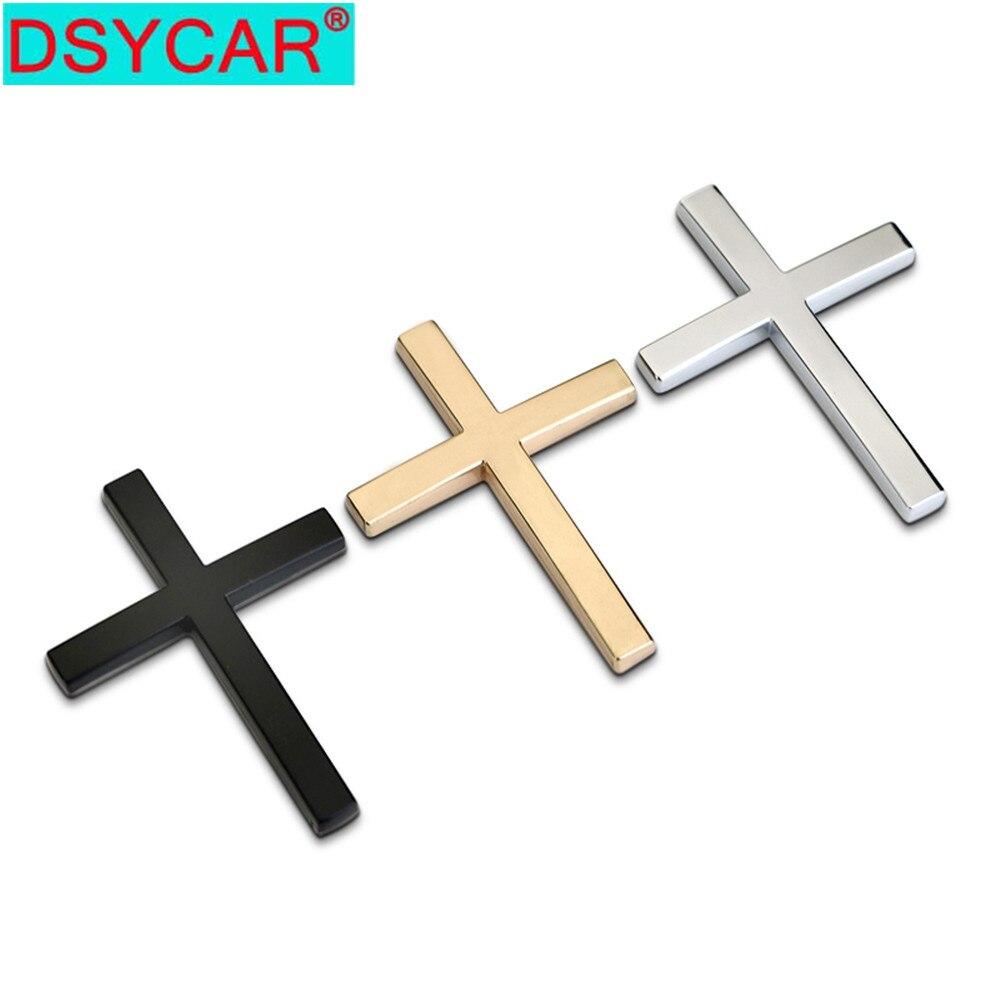 DSYCAR 1 шт. 3D металлический крестообразный автомобильный боковое крыло задний багажник эмблема значок наклейка для Buick Chevrolet Malibu VW Ford Jeep Honda Kia