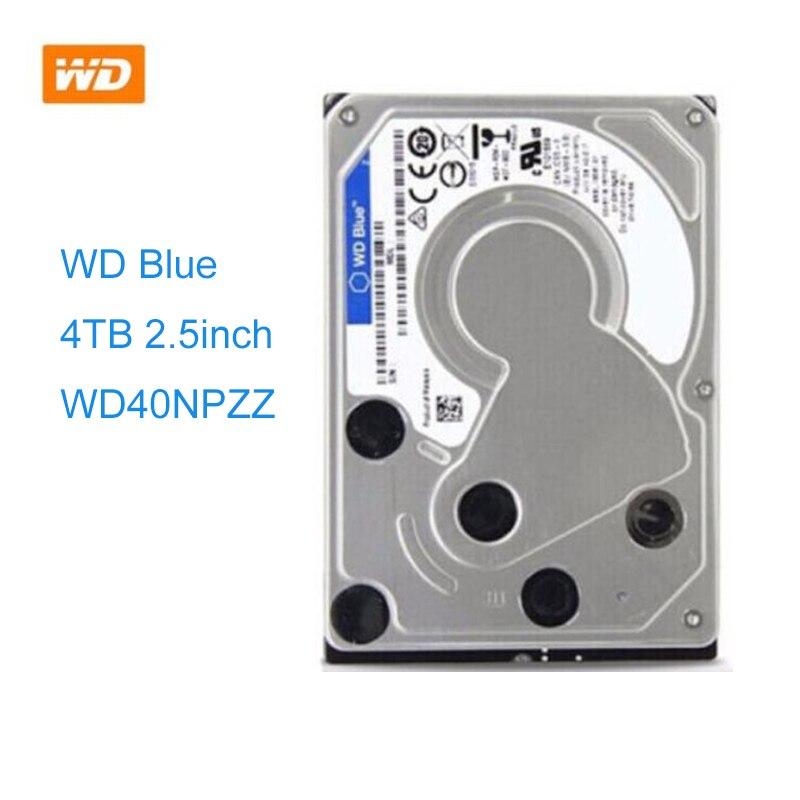 WD الأزرق 4 تيرا بايت 2.5 بوصة HDD كمبيوتر محمول دفتر الداخلية SATA 6 جيجابايت/ثانية القرص الصلب 15 مللي متر الارتفاع نموذج WD40NPZZ