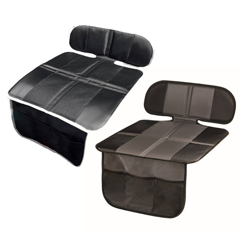 Car Seat Protector Carseat Cover Cushion Non-slip Safety Backseat Padding Protection Mat for Kids Child with Organizer Pockets