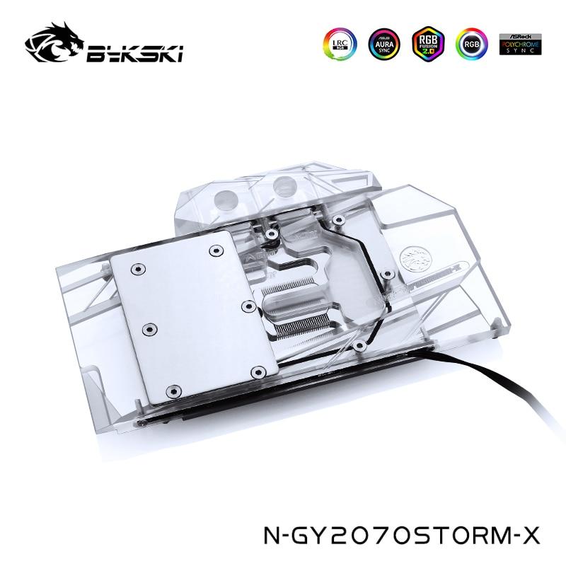 Bykski Water Cooling Block For Galaxy GeForce RTX 2070 RTX 2060 Super (1-Click OC) Gainword RTX 2070 GTX 1660TI,N-GY2070STORM-X