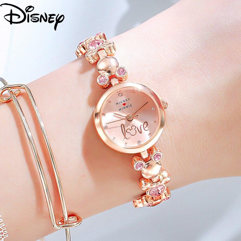Original Disney Mickey Mouse Ladies Watch Style Bracelet Diamond Fashion Womens for Women