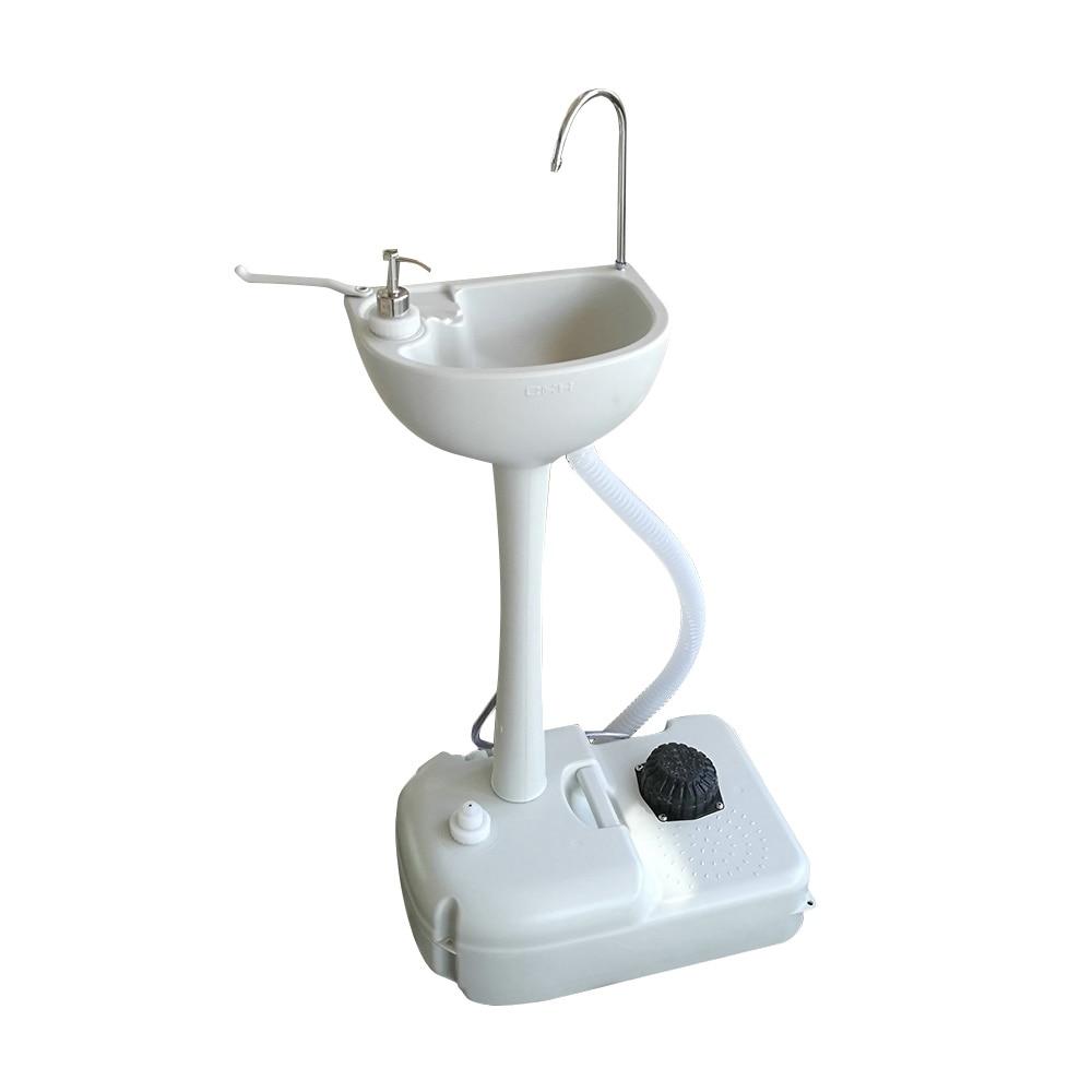 Lavamanos portátil extraíble para exteriores, lavabo con ruedas, 51x103 33,5 CM, blanco,...