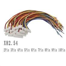 Connecteur de fil JST avec câble de 30cm   100 pièces, lancement de 2.54mm 26AWG XH2.54 2P 3P 4 P 5P 6P 7P 8P 9P 10 broches, connecteur de fil