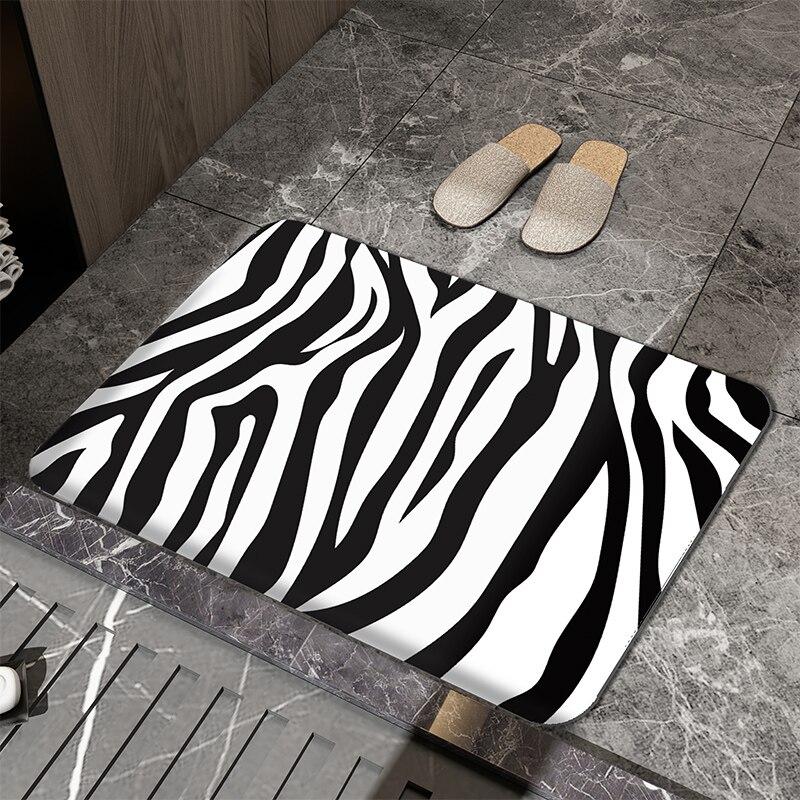Non Slip Modern Bath Mats Hotel Door Shower Diatomite Bath Mats Bathroom Absorbent Tapis Salle De Bain Bathroom Product DH50DD