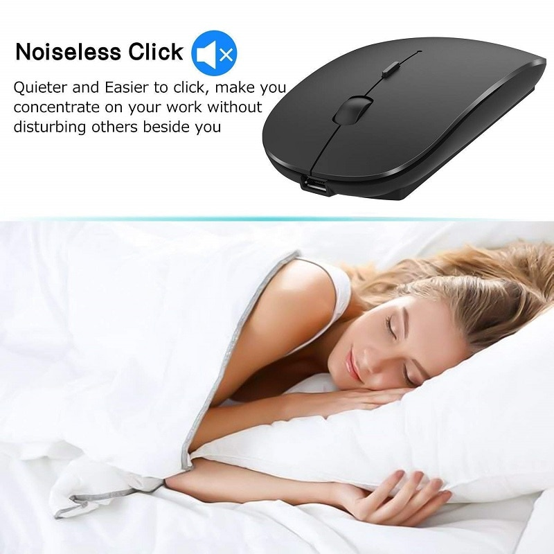 4.0 Bluetooth Mouse Wireless Computer Mouse Silent Mause USB Rechargeable Ergonomic Mouse 1600 DPI Optical Mice For PC Laptop enlarge