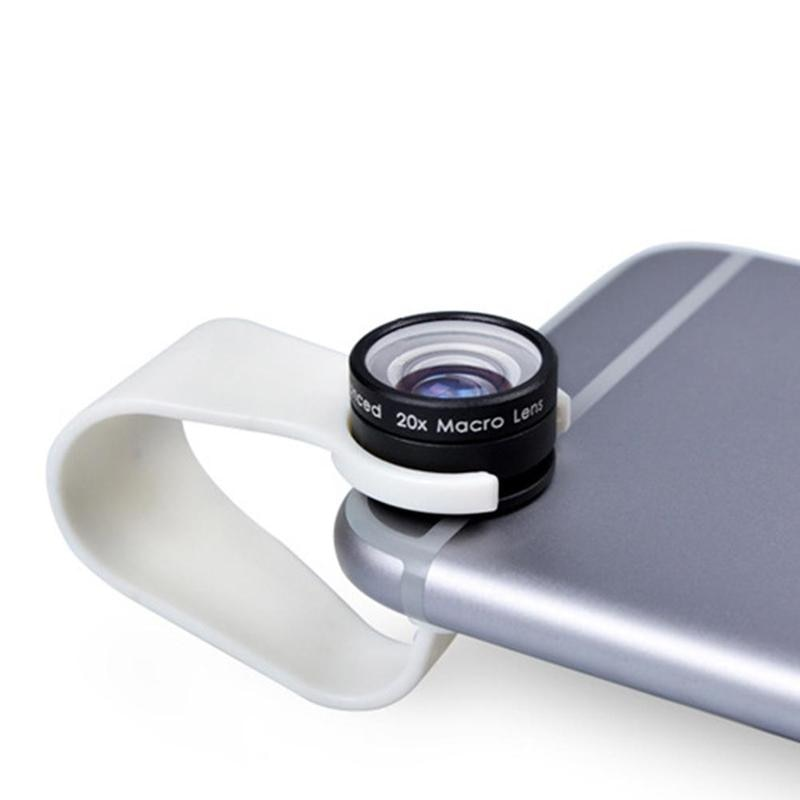 Universal de 20 veces lupa teléfono móvil de vidrio lente Macro 20x Super móvil lente para Iphone Max Huawei Xiaomi Samsung S8 S9