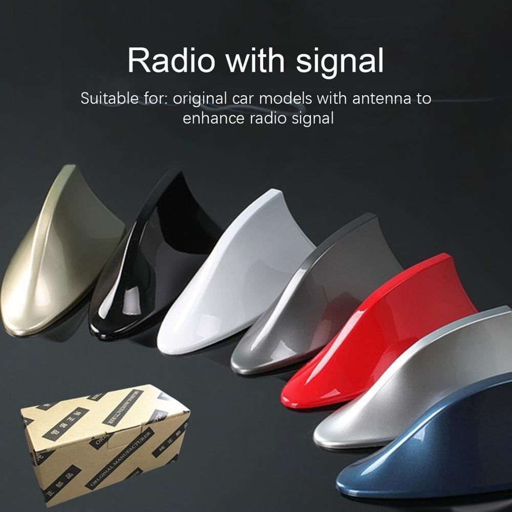 Antena tipo aleta de tiburon Universal nueva para coche, alerón de techo Exterior para automóvil con forma de aleta de tiburón, protección de señal aérea con estilo para coche