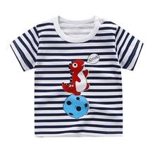 Summer Boys Girls T-Shirts Children Fashion Cotton Spaceship Kids Cartoon Print T shirts Baby Child Tops Clothing Tee 9M-8T