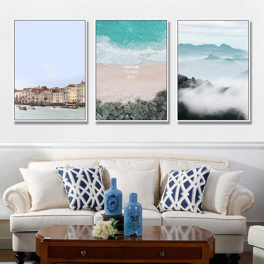 Cuadros Abstractos Modernos divertidos de todo tipo de decoración de paisaje lienzo...
