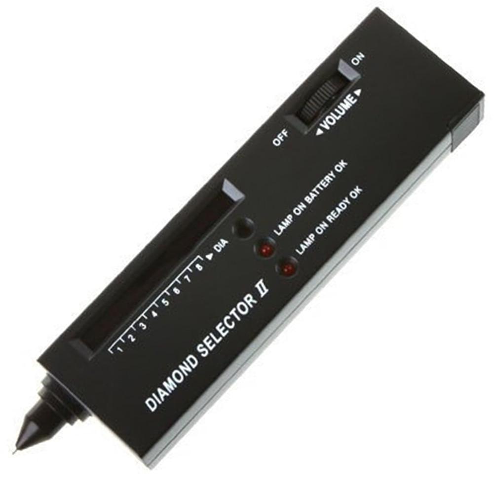 Selector de diamante II herramienta de prueba de piedras preciosas, probador de diamantes de joyería dispositivo medidor de alta precisión portátil para el hogar