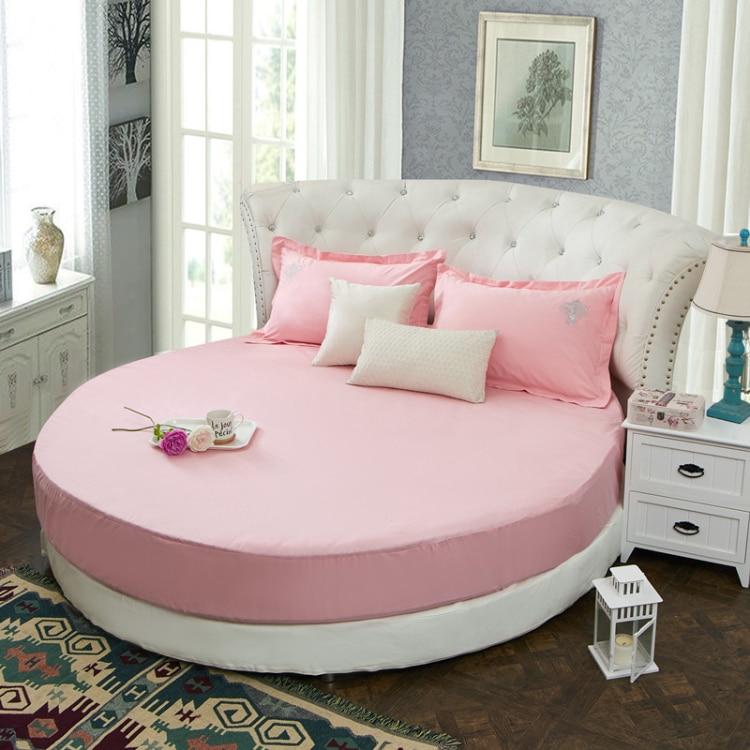 ملاءة دائرية 100% قطن ، مفرش سرير دائري صلب ، طقم سرير صيفي ، مرتبة دائرية 200 سنتيمتر 220 سنتيمتر