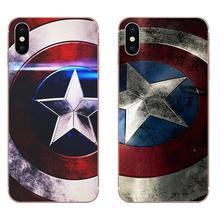 Funda TPU para HTC U11 Life Capa U11 Plus U 11 U12 Life héroe Capitán América patrón de escudo brillante