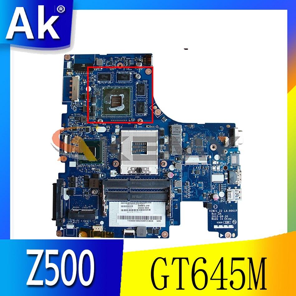 Akemy لينوفو Z500 اللوحة المحمول VIWZ1 Z2 LA-9061P PGA989 HM77 GPU GT645M DDR3 100% اختبار العمل