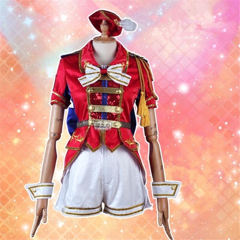 Cosplay Anime Million Live MLTD MV cosplay disfraz Castillo abierto rojo uniformes