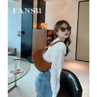 fansu womens ava retro underarm hobo bag adjustable shoulder strap genuine leather portable shoulder bag fashion banquet bag