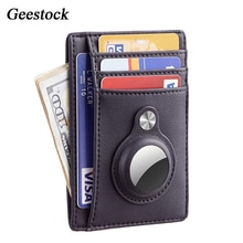 Geestock RFID Anti-theft Card Bag for Women Men Leather Wallet Protective Case Shockproof Anti Scrat