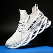 36-46 Men Fashion Sneakers Mesh Breathable Running Sport Shoes Light Soft Non-slip Couple Shoes Larg