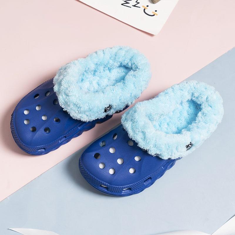 Ltolo Children Kids Boys Girls Mules Warm Clogs Winter Croc Sandals Garden Slippers Cave Hole Baby Shoes For Boy Girl  EUR24-35