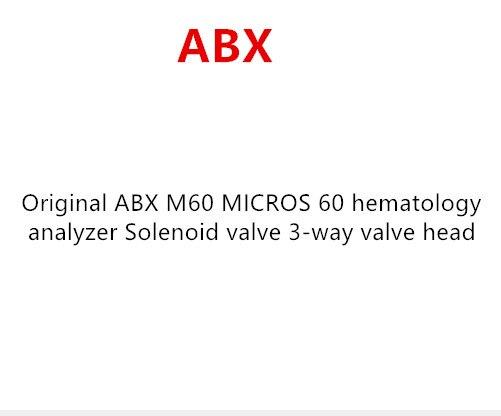 Original ABX M60 MICROS 60 analizador hematológico válvula solenoide cabeza de válvula de 3 vías