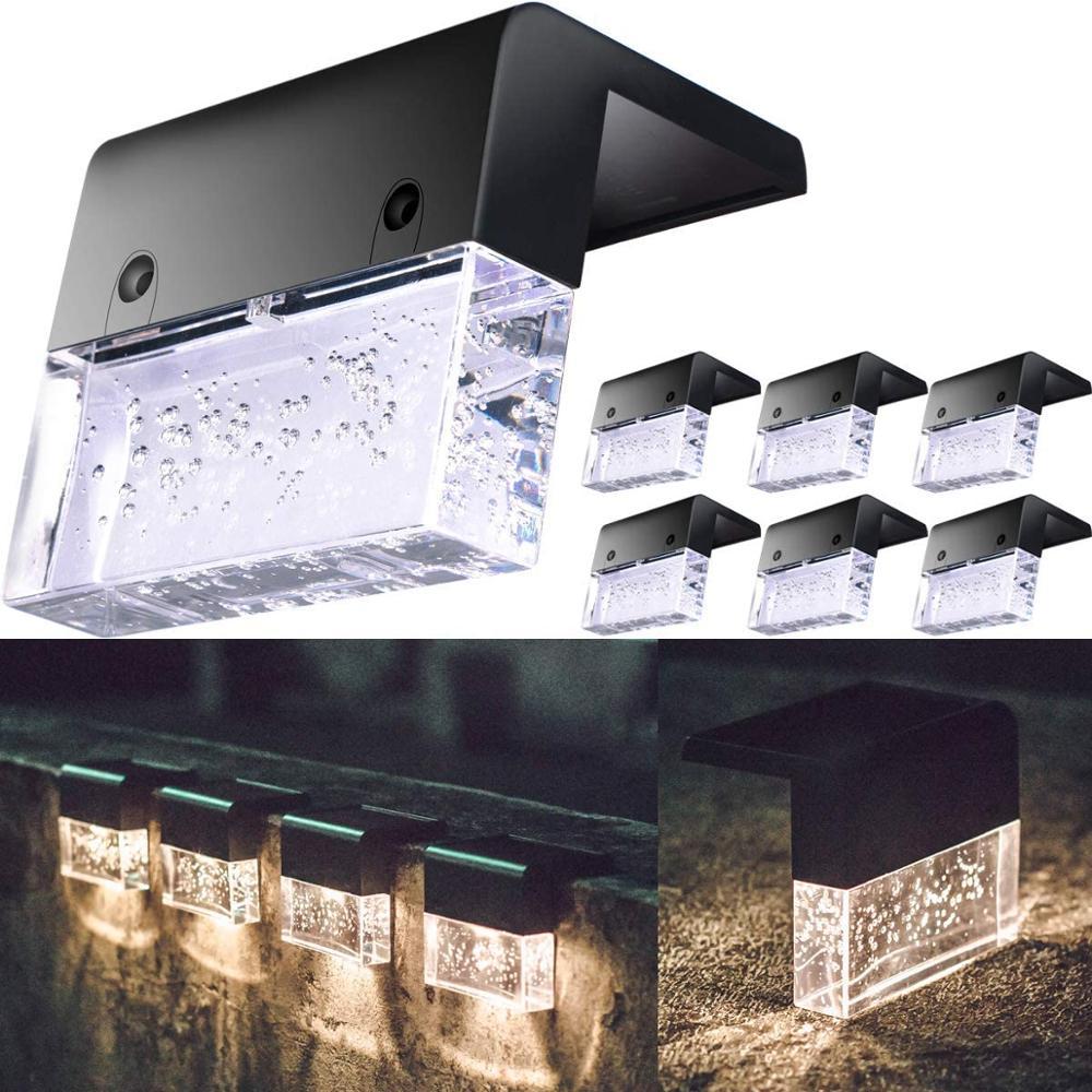 Светодиодный светильник на солнечной батарее, палусветильник фсветильник светильник для забора, уличное освещение для сада, уличная лампа ...