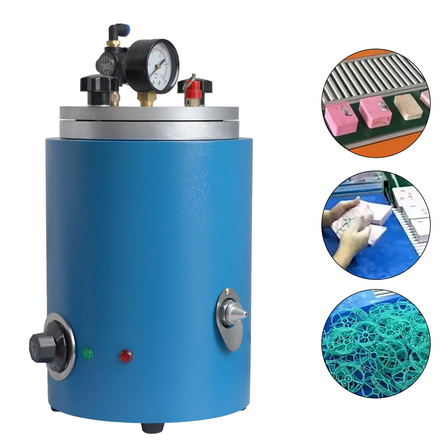 110v/220v Round Barrel Wax Injection Machine for Jewelry Mould Casting Machine Casting Machine Vacuum Injecting Nozzle Jewellery