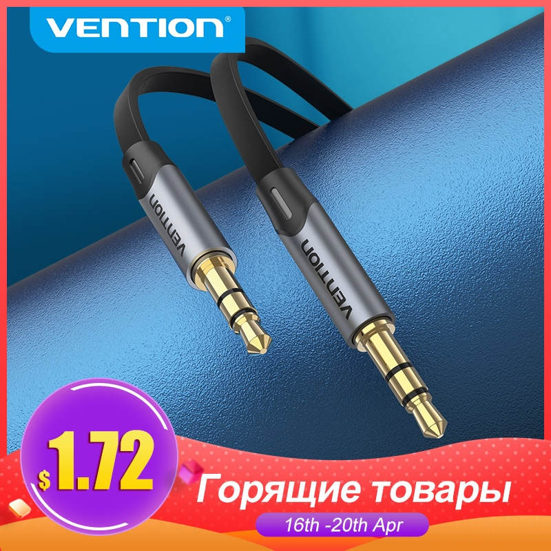 Vention Aux Cable Jack 3.5mm Audio Male to Male Cable 3.5 Jack Cable for Xiaomi Samsung Car Headphon