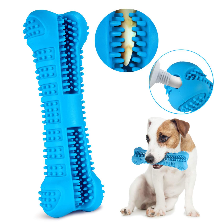 Cepillo Dental para perro mascota palo juguete masticable para mascotas cepillo de dientes de perro cepillo de limpieza masaje no tóxico de goma Natural pegatinas de cuidado Dental
